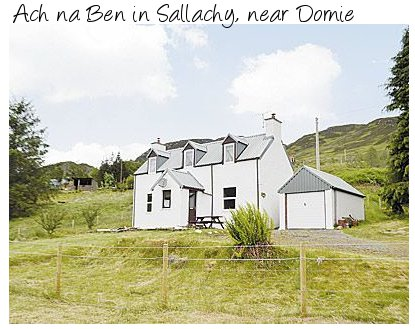 Ach na Ben is a holiday cottage near the west Scotland town of Dornie