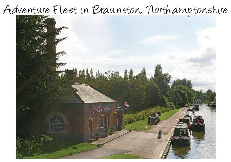 Canal holidays starting at Braunston in Northamptonshire - the Adventure Fleet have narrowboats sleeping 3 - 12 people