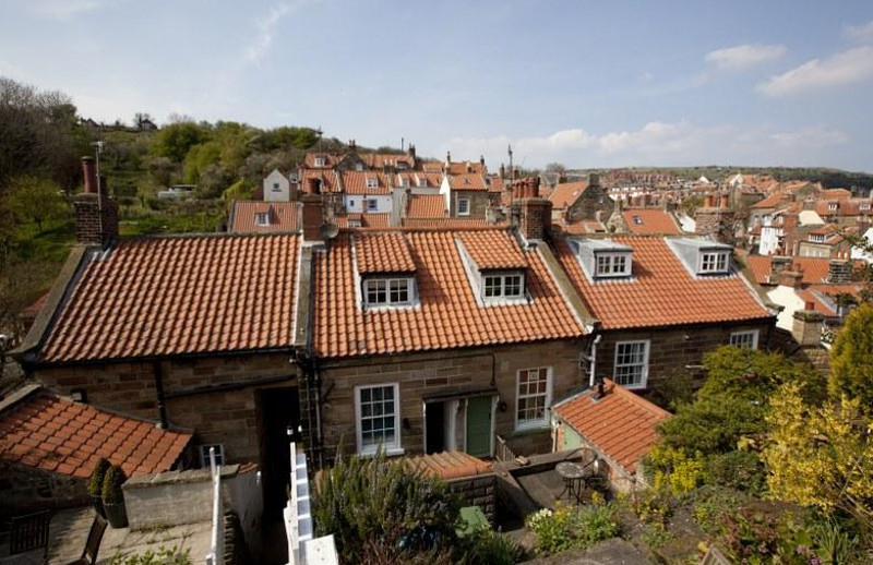 Views over the roof-tops at Albion Hall in North Yorkshire