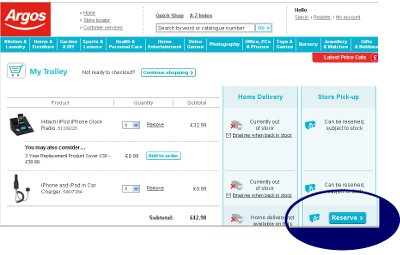 Reserve online at Argos co uk and guarantee availability