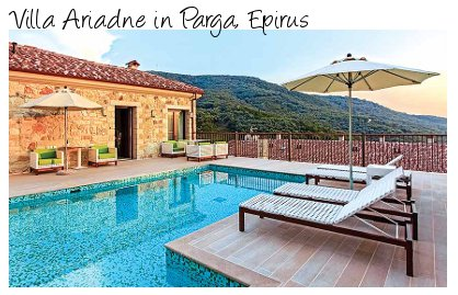 Ariadne is a villa in the grounds of a boutique hotel in Parga, Epirus, Greece. Ariadne sleeps 4 people