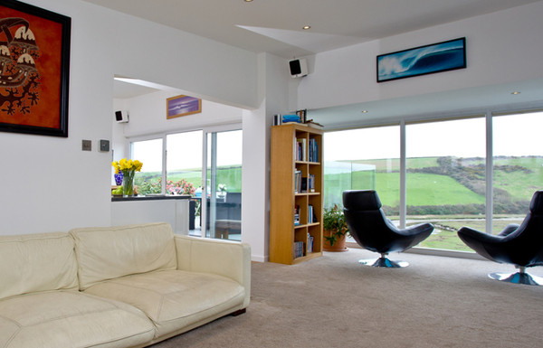 The living room at Belle Rives, Newquay