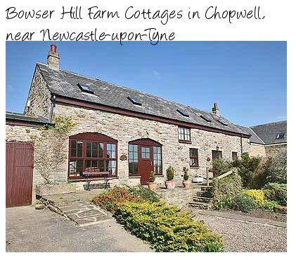 Bowser Hill Farm Cottages enjoy a rural setting near Newcastle-upon-Tyne