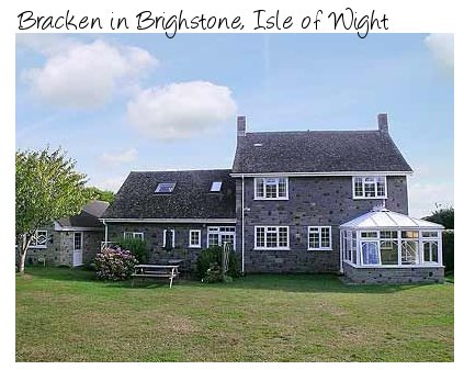 Bracken is a large holiday home in Brighstone, on the Isle of Wight