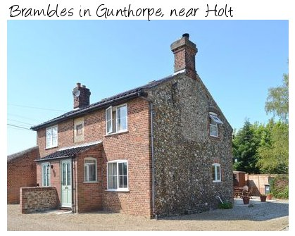 Brambles is a holiday cottage in Gunthorpe, near Holt - on the North Norfolk Coast. Brambles sleeps 4 people