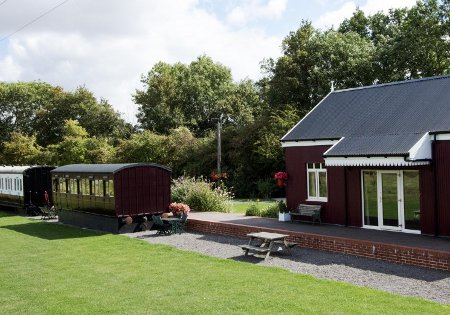 Brockford Railway Sidings near Stowmarket are a unique set of holiday cottages in Suffolk
