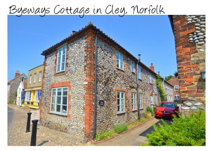 Byeways Cottage is a traditional brick and flint cottage in Cley, Norfolk. Byeways Cottage sleeps 6 people and pet friendly