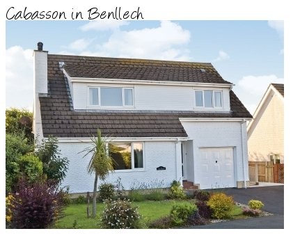 Cabasson in Benllech, on Anglesey, is a holiday cottage sleeping 8 people