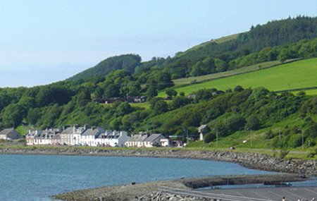 The setting of Cairnryan Caravan Park in Cairnryan
