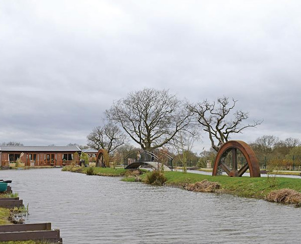 The setting of Caistor Lakes Lodges in Lincolnshire