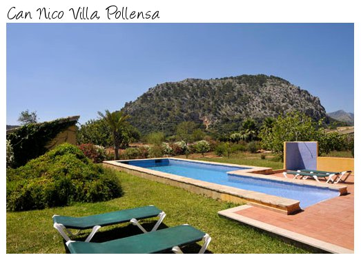 Can Nico Villa in Pollensa, Mallorca from Villa Parade - sleeps 6