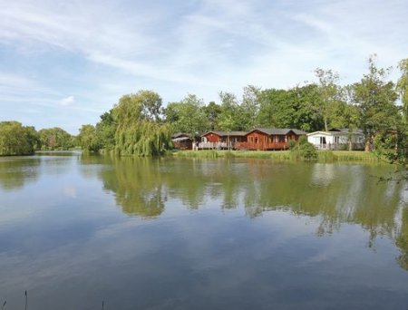 The setting of the lodges at Carlton Meres Country Park