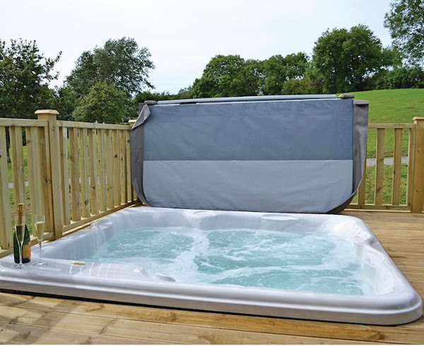 The lodges at Celtic Escapes have their own hot tub