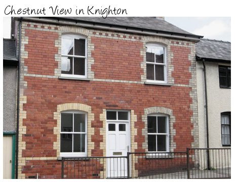 Chestnut View is a holiday cottage in the town of Knighton on the Shropshire / Powys border