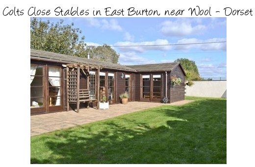 Colts Close Stables in East Burton, near Wool in Dorset is a converted stable sleeping 4 people, and pet friendly