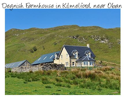 Degnish Farmhouse is a large holiday cottage on the west coast of Scotland - near Oban