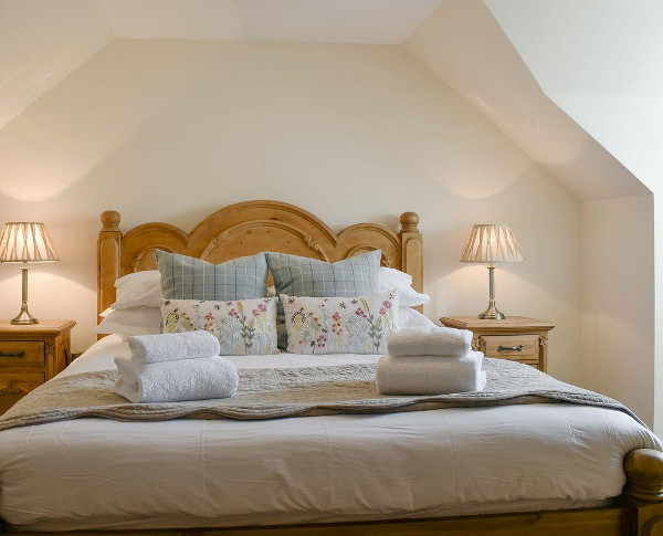 One of the bedrooms at Deuchars Cottage in Kenmore