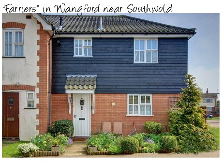 The holiday cottage of Farriers is in the village of Wangford, Southwold