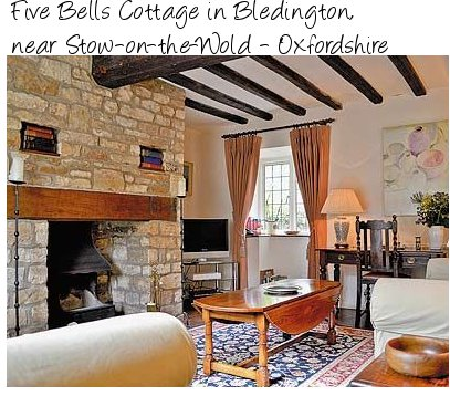 Five Bells Cottage near Stow-on-the-Wold in Oxfordshire, is a 17th cetury cottage sleeping 4 people