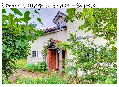 Fromus Cottage is a traditional Suffolk cottage near the town of Snape. Fromus Cottage sleeps 7 people
