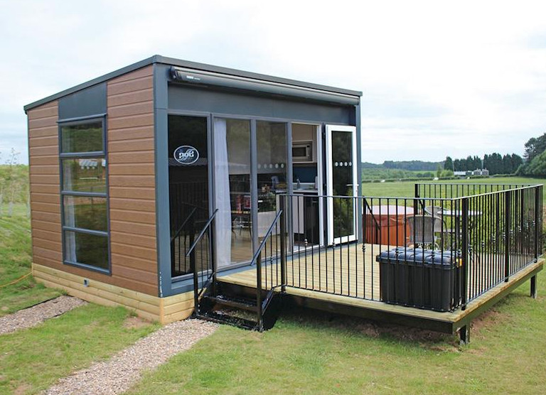One of the Lakeview Pods at Haywood Oaks Golf and Country Club in Oxton