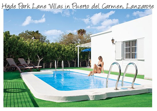 Hyde Park Lane Villas are a collection of holiday villas on a resort in Puerto del Carmen, Lanzarote