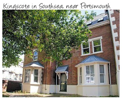 Kingscote in the south coast town of Portsmouth is very close to the pebble beach