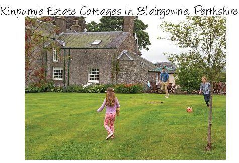 Kinpurnie Estate Cottages are a selection of holiday cottage in Blairgowrie, near the east coast of Scotland