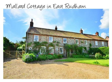 Mallard Cottage in the Norfolk countryside village of East Rudham
