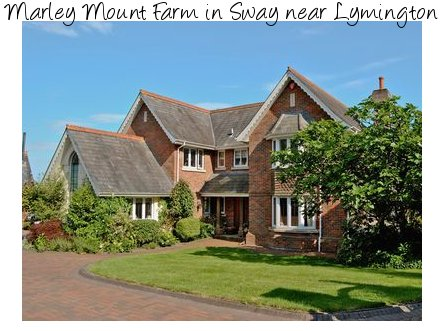 Marley Mount Farm is a large holiday cottage on the south coast; outside the village of Sway near Lymington