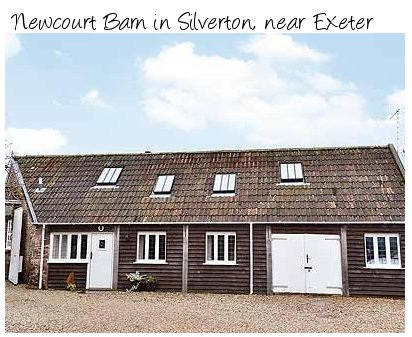 Newcourt Barn is a barn conversion near Exeter - ideal for exploring Exmoor National Park