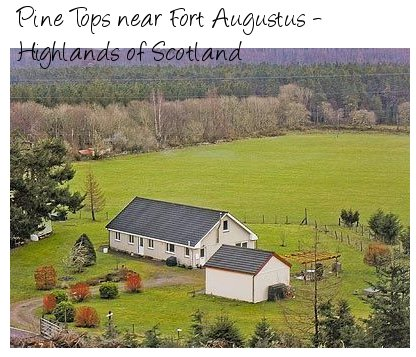 Rent Pine Tops holiday cottage for a good base to explore the Loch Ness area