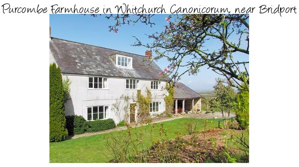 Purcombe Farmhouse is a large holiday cottage in Whitchurch Canonicorum near Bridport, sleeps 12 people