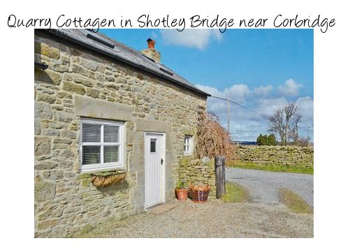 Quarry Cottage in Shotley Bridge, near Corbridge is an old traditional stone cottage for 2 people