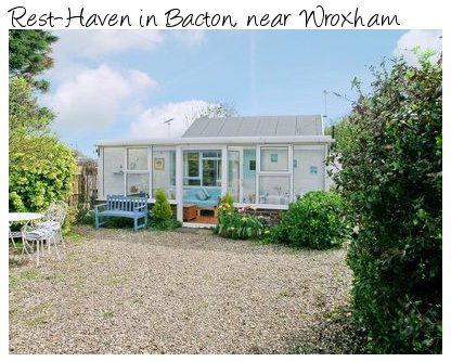 Rest-Haven in Bacton, is a holiday cottage for exploring the North Norfolk Coast and the Norfolk Broads