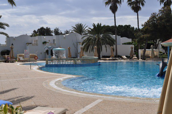 The main pool at Riu Marhaba Palace Hammamet