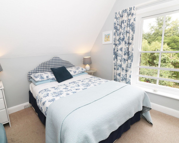 One of the bedrooms at Riverbank House in Matlock