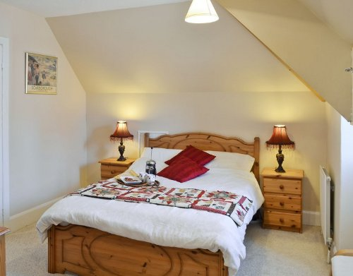 One of the bedrooms at Ryndle Corner in Scarborough