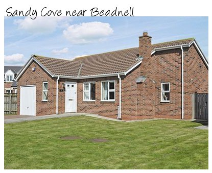 Close to the sandy beach is Sandy Cove holiday cottage near Beadnell