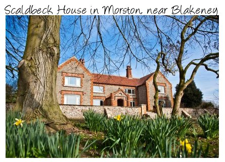 Scaldbeck House is a large holiday cottage near the Norfolk seaside town of Blakeney