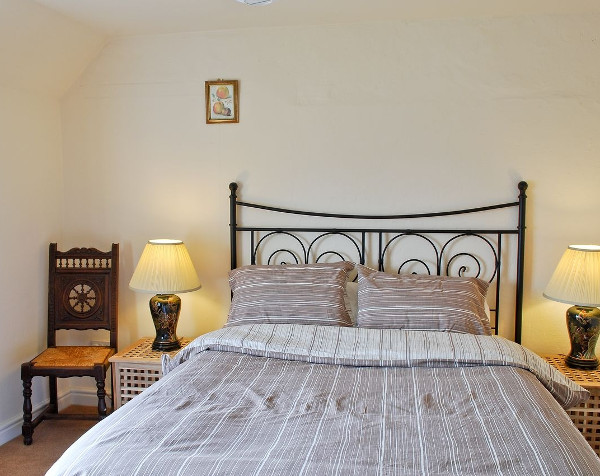 One of the four bedrooms at Smithy Farm in Dunham-on-the-Hill