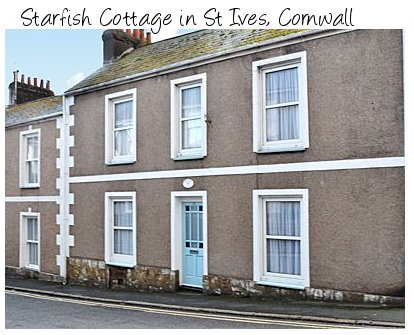 Starfish Cottage is a holiday cottage for 4 people near the beaches and attractions of St Ives in Cornwall
