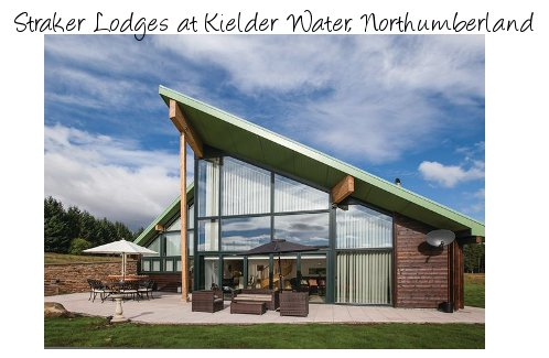 Straker Lodges at Kielder Water in Northumberland are a collection of modern holiday lodges sleeping 6 people - and with a hot tub