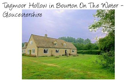 Enjoy some rural tranquillity at Tagmoor Hollow in Bourton On The Water
