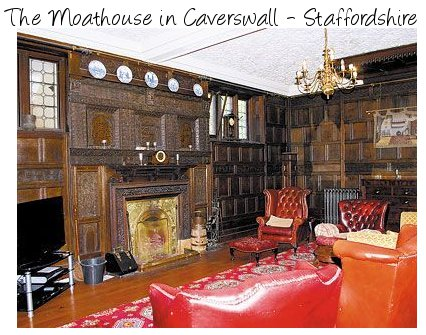 The Moathouse is in the grounds of Caverswall Castle near Caverswall, Staffordshire