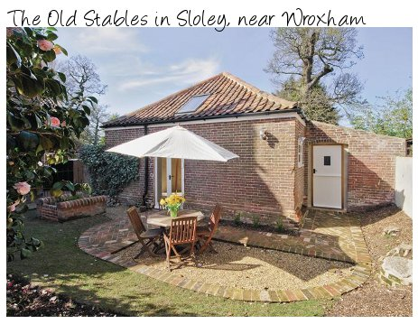 The Old Stables is an old coach house in the Norfolk village of Sloley, near Wroxham
