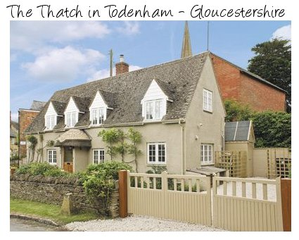 The Thatch is a traditional cottage in the Cotswolds