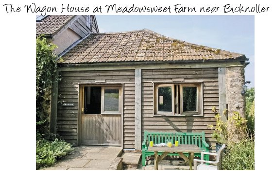 The Wagon House at Meadowsweet Farm in Somerset