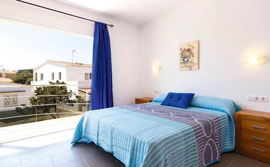 One of the bedrooms at Villa Garbo on Menorca