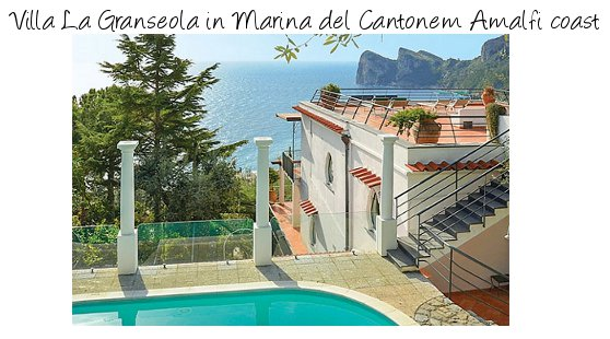 Villa La Granseola in Marina del Cantone, on the Amalfi coast sleeps 12 people in 6 bedrooms - each being 3 separate apartments